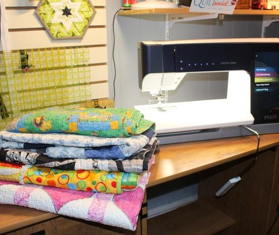 Baby quilts are easy to make with the PFAFF creative icon.