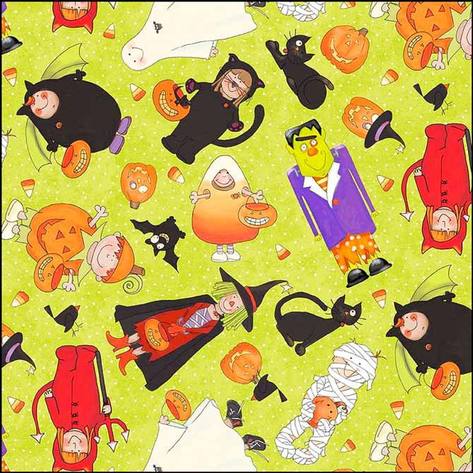 Backing fabric from the Happy Halloween collection