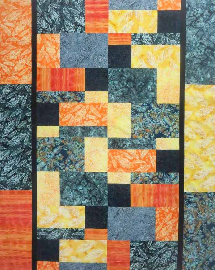 Use 9 fat quarters of Banyan Batiks to make this quilt.
