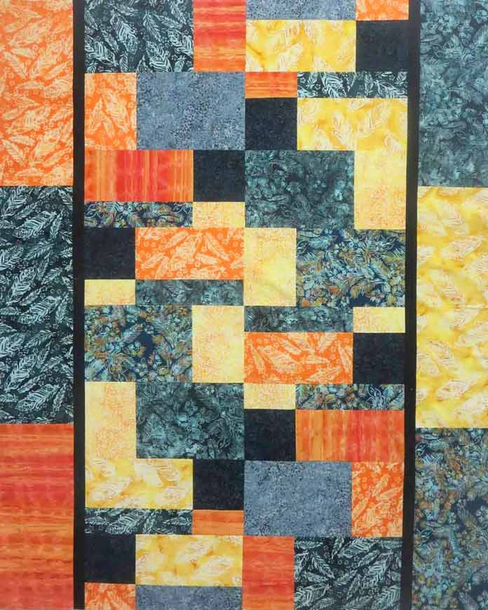 This quilt was made with 9 Banyan Batiks fat quarters.