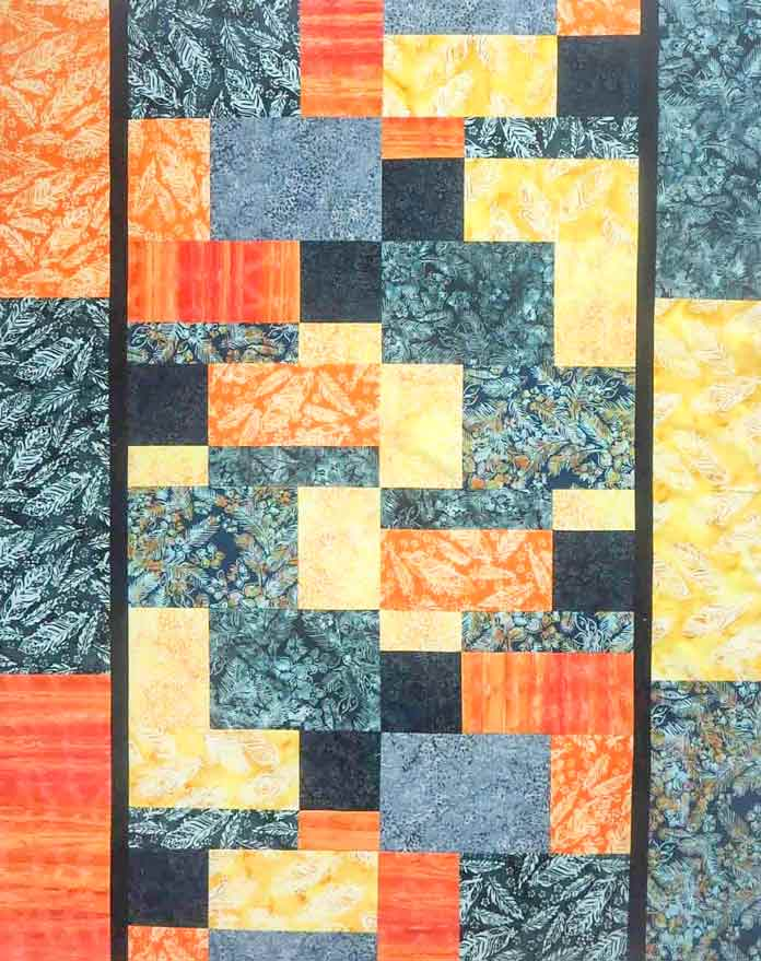 Instructions for this modern quilt can be found in the QUILTsocial posts from May 2 and 3, 2018.