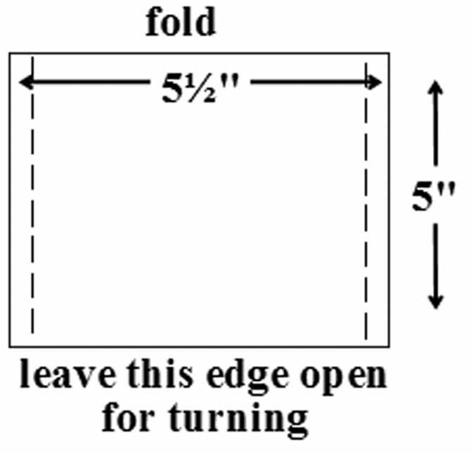 Instructions for making the pocket