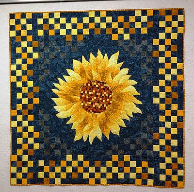 Quilting Beautiful and Bountiful Sunflowers