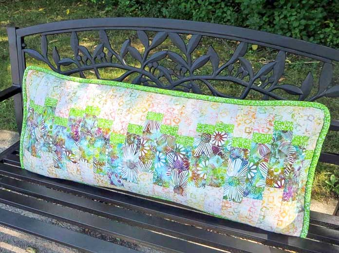 Finished bench pillow
