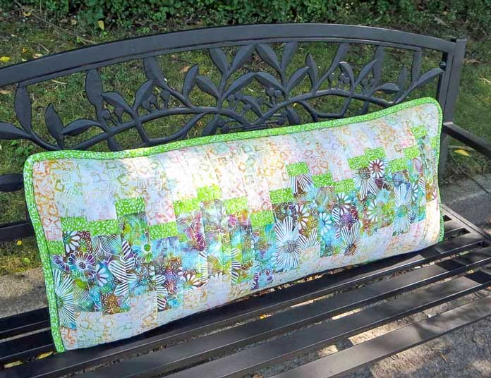 Finished Bench Pillow with covered cording