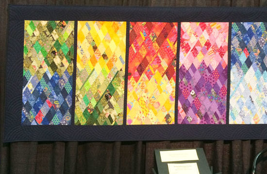 Remembering Sochi quilt won Best of Show in 2018 Chicago International Quilt Festival