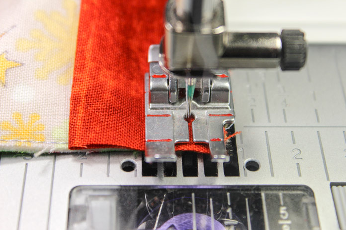 "Stop stitching your binding at ¼"" from the edge."