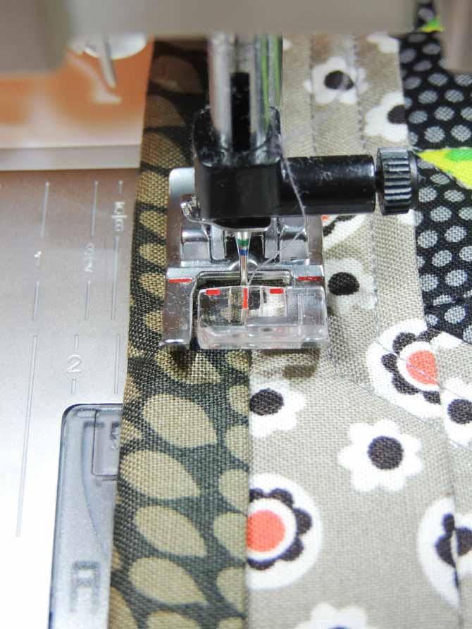 attaching binding by machine presser foot 1A