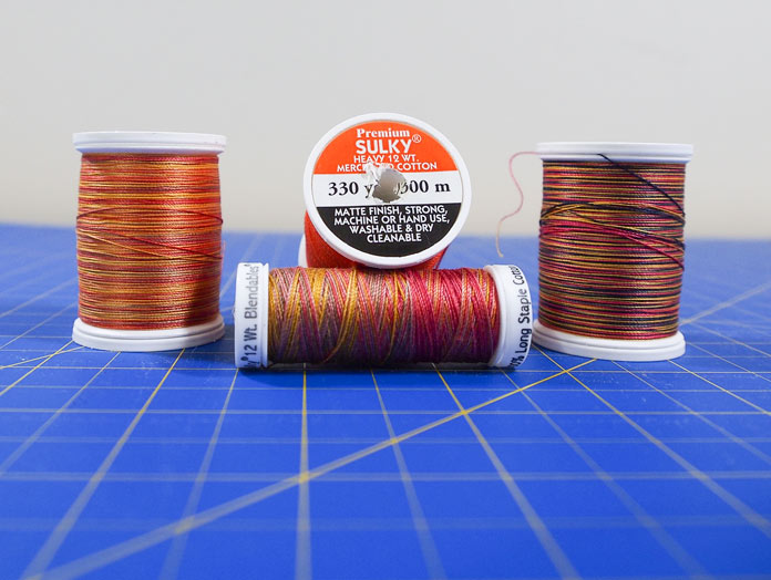 Beautiful autumn colors of Sulky thread