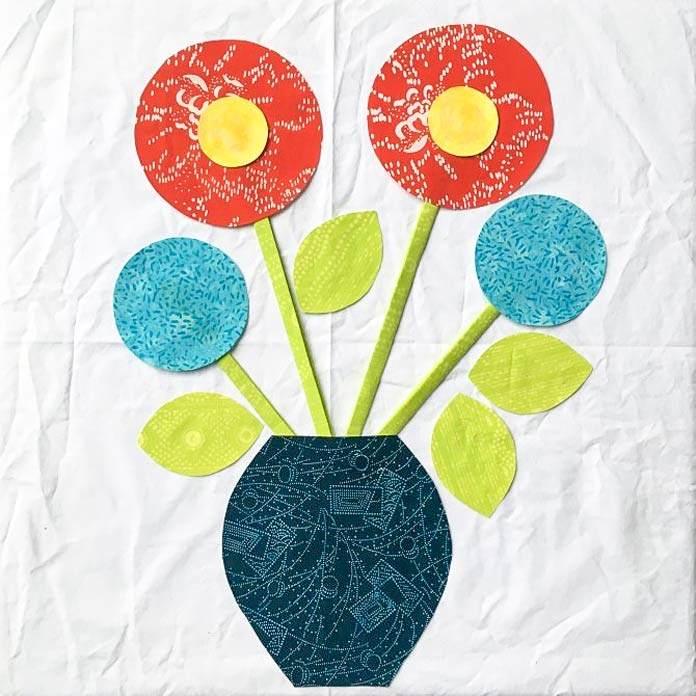 Arranging your applique flower design