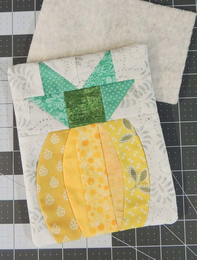 Quilting the pocket gives it more body and makes it a sturdier spot to stash something special.