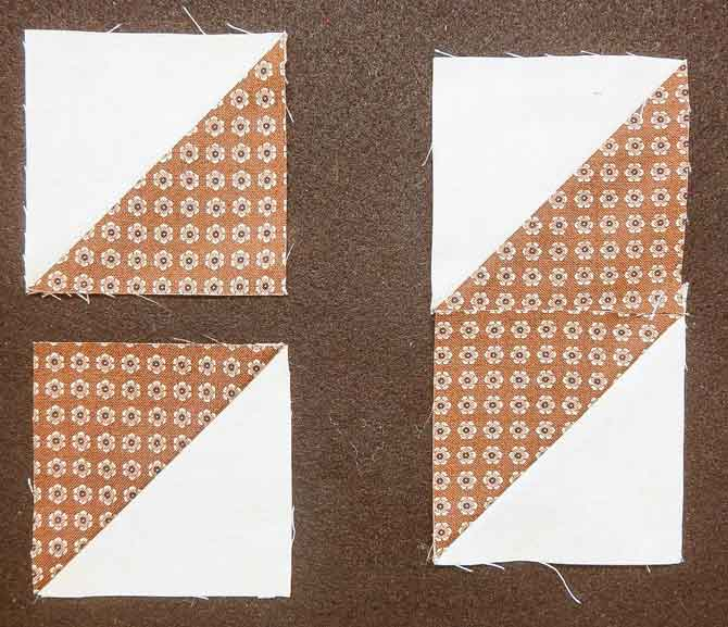 Simple Half-Square Triangle Block