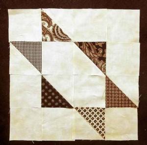 Half-Square Triangle Star Block