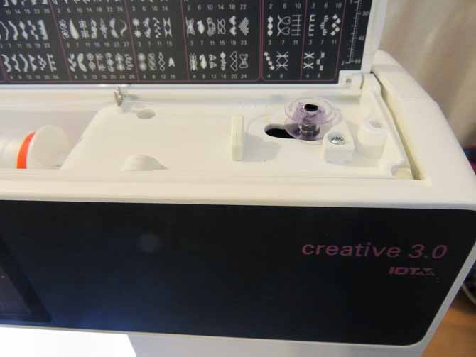 Winding the bobbin on the creative 3.0 is easy too!