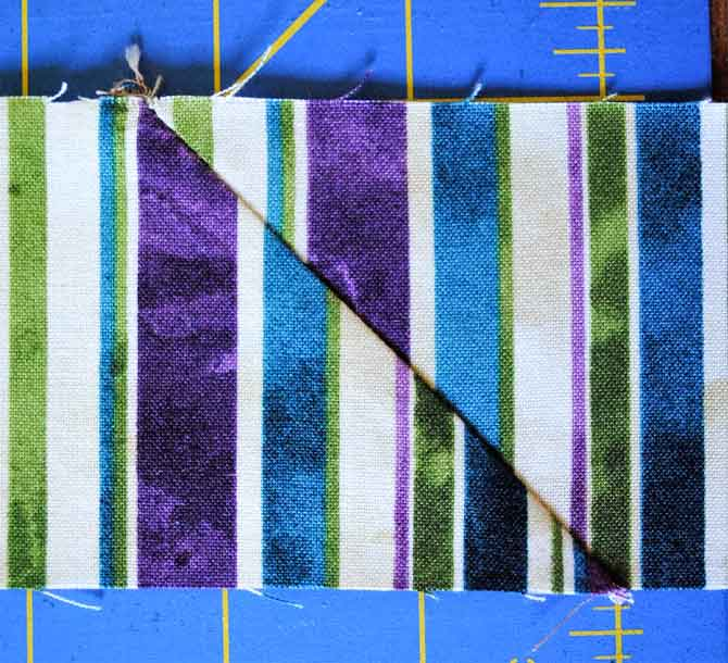 Border strips joined with a mitered seam