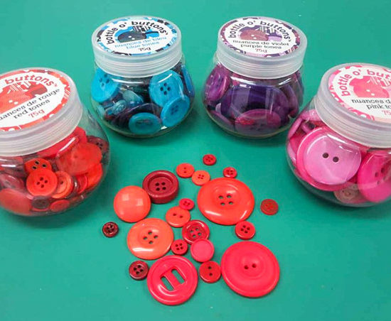 bottle o' buttons - just 4 of the many colors available