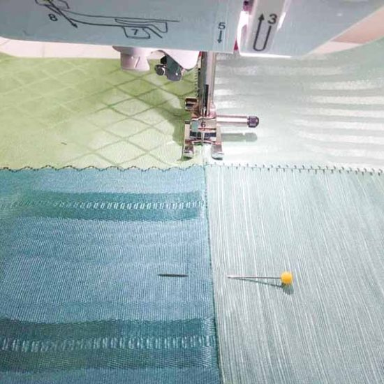 Sewing decorative stitches with the open-toe embroidery foot on the Brother NQ900