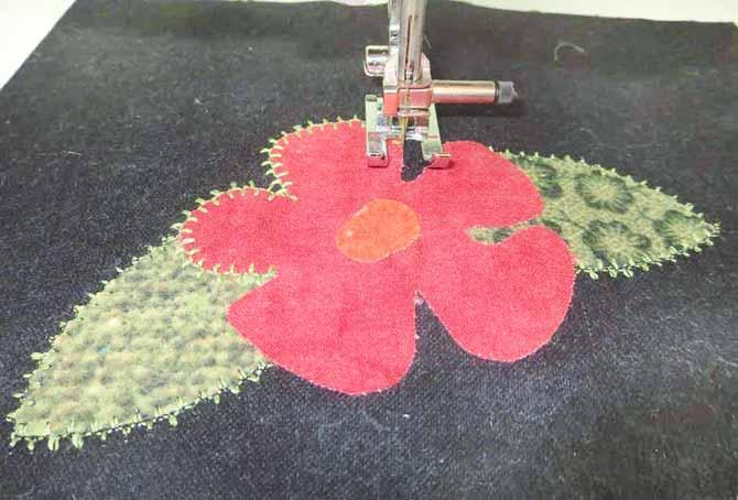 Blanket stitch #72 with heavy-weight thread