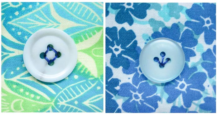 Try some different sewing designs on the buttons.