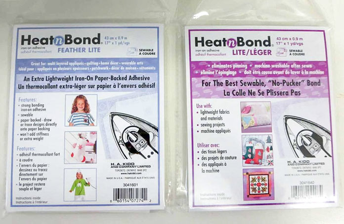 HeatnBond fusible web in 2 weights for fusible applique