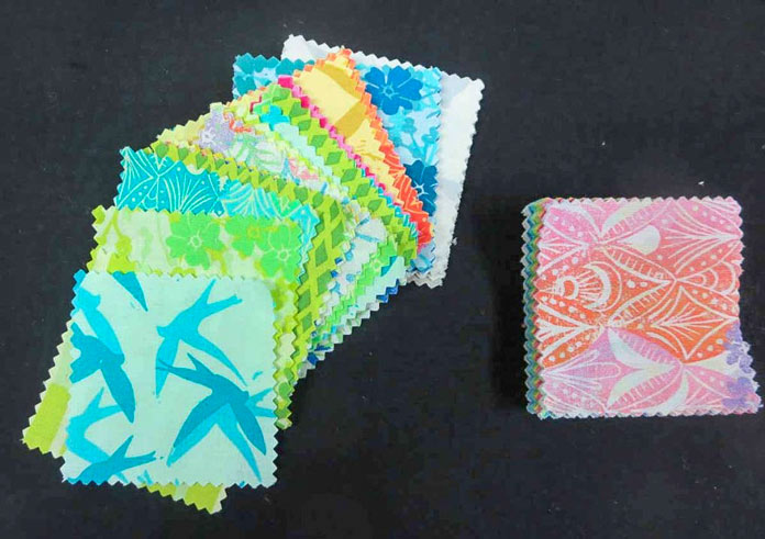 "2½"" squares from a Charm Pack"