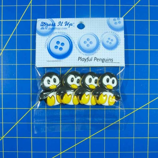 The oh so cute penguin buttons