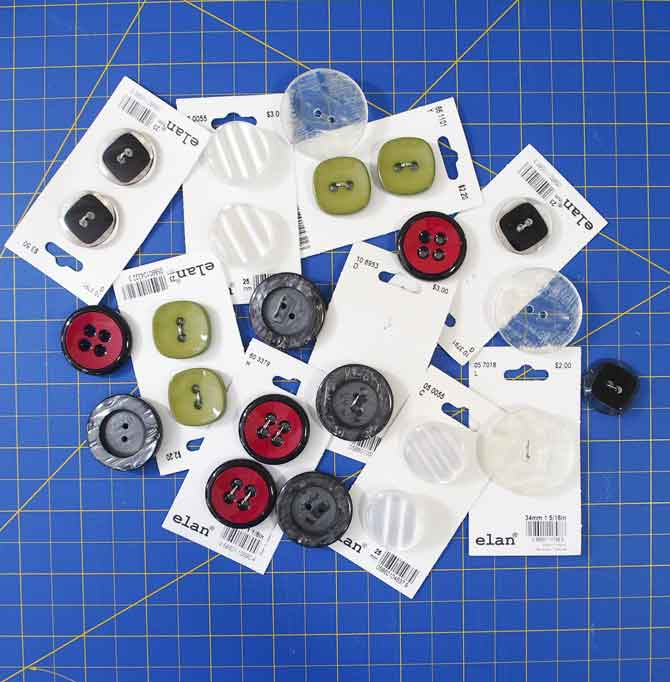 Array of buttons