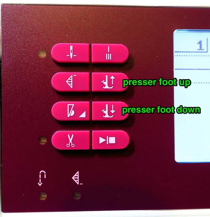 Presser foot up & down