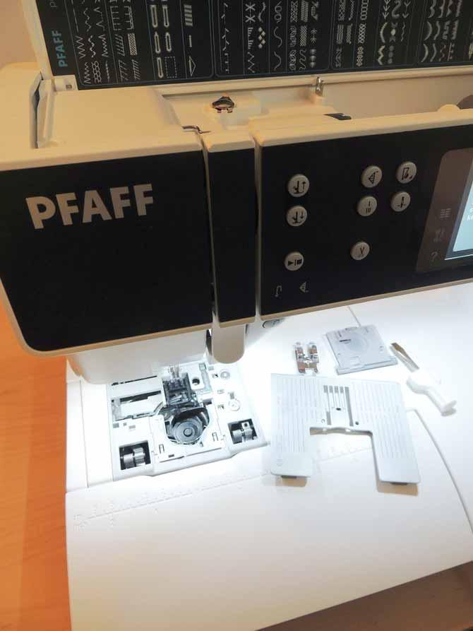 changing the needle plate PFAFF sewing machine