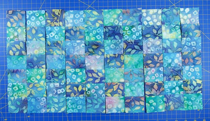 Alternating strips to make checkerboard
