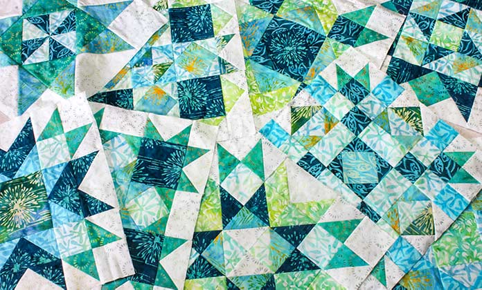 Sparkling, brilliant quilt blocks for the Spectrum QAL 2020, ready to share with you!