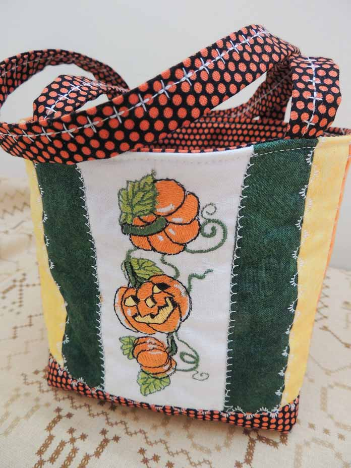 Fall embroidered friendship bag