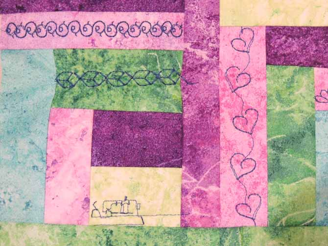 Another closeup of stitches decorative stitches Performance 5.2