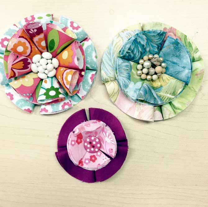 Create 3D flowers from circles