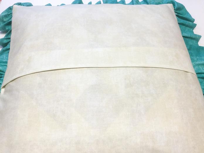 Completed designer cushion back