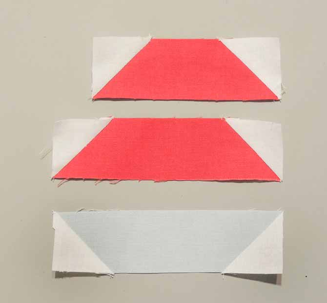 half square triangle units pieced triangles