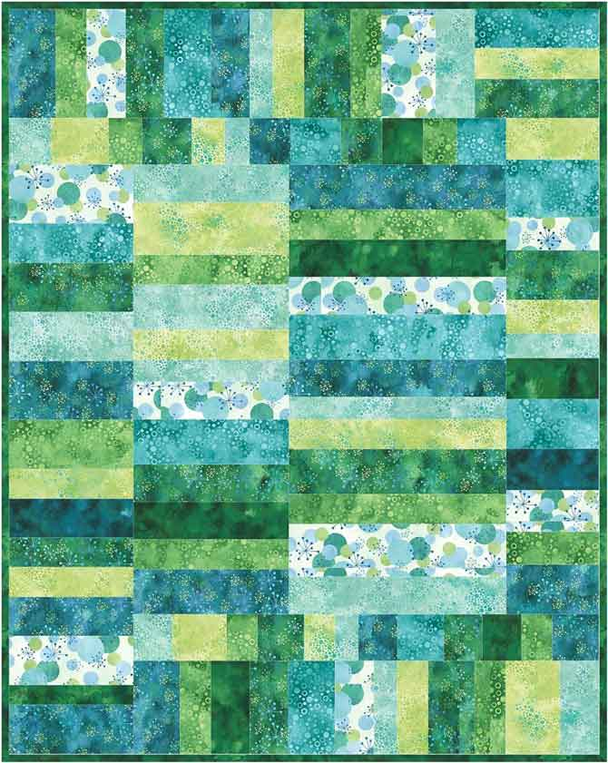 Modern baby quilt made with Northcott's Cosmic Fusion fabrics