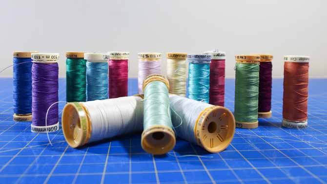 Glorious colors of Gütermann cotton and polyester thread