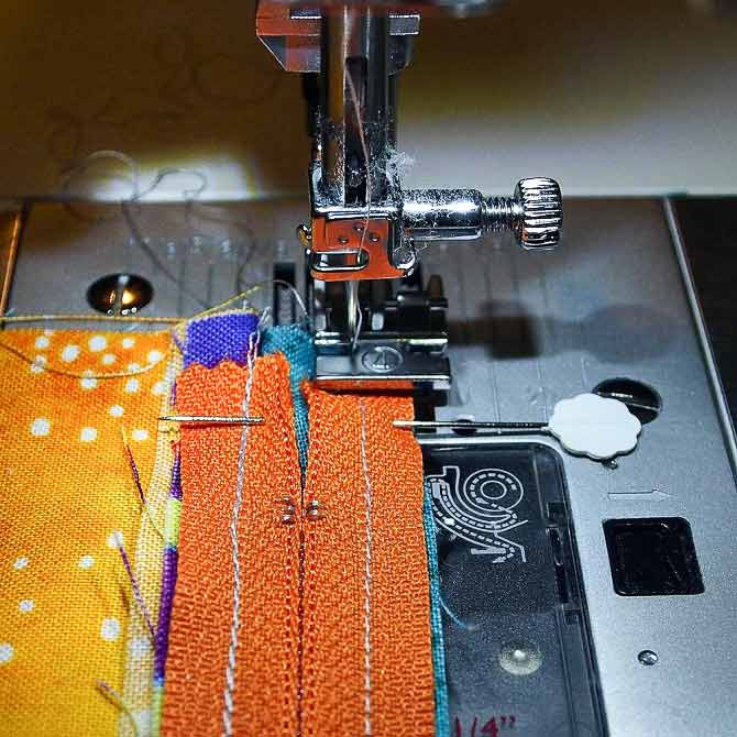 Sew along existing seam