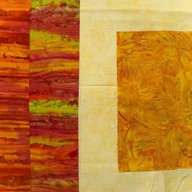 Fabric choices for the mug rug
