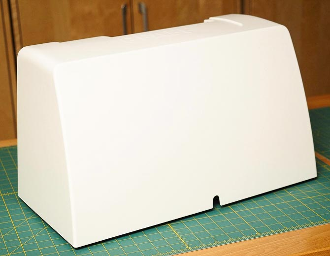 Hard case on sewing machine