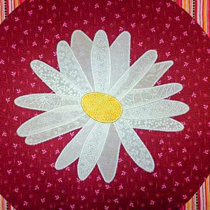 Crazy Daisy with a Satin Stitch Edge Finish
