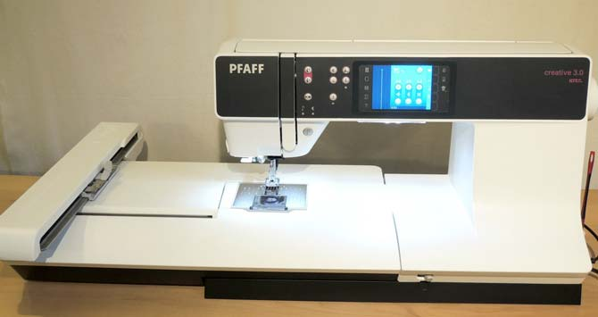 The PFAFF creative 3.0 comes with an embroidery unit to let you add embroidery to any project you can dream up.
