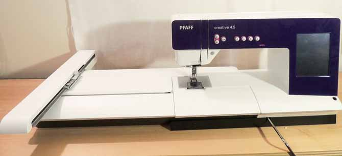 Embroidery Unit on PFAFF Creative 4.5