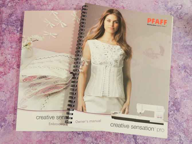 PFAFF creative sensation pro Manual and Embroidery Collection guide