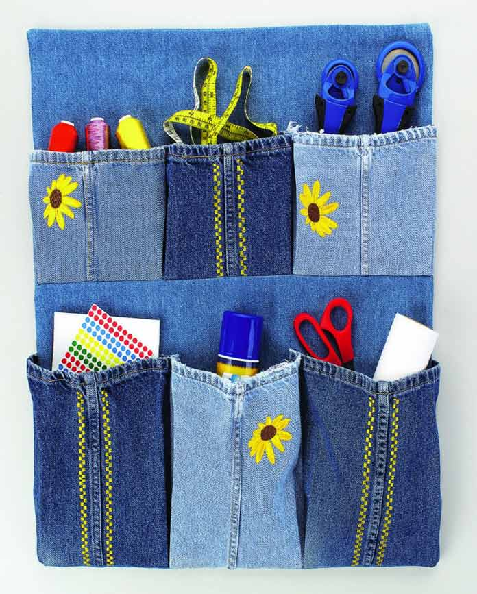 Here's one super idea to recycle those jeans you no longer use and still feel good about making more use of them. It's both creative and practical.