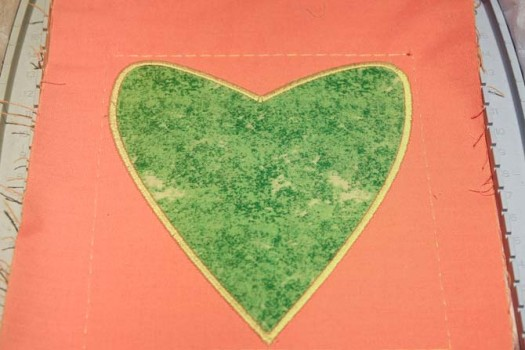 My applique heart--all finished!