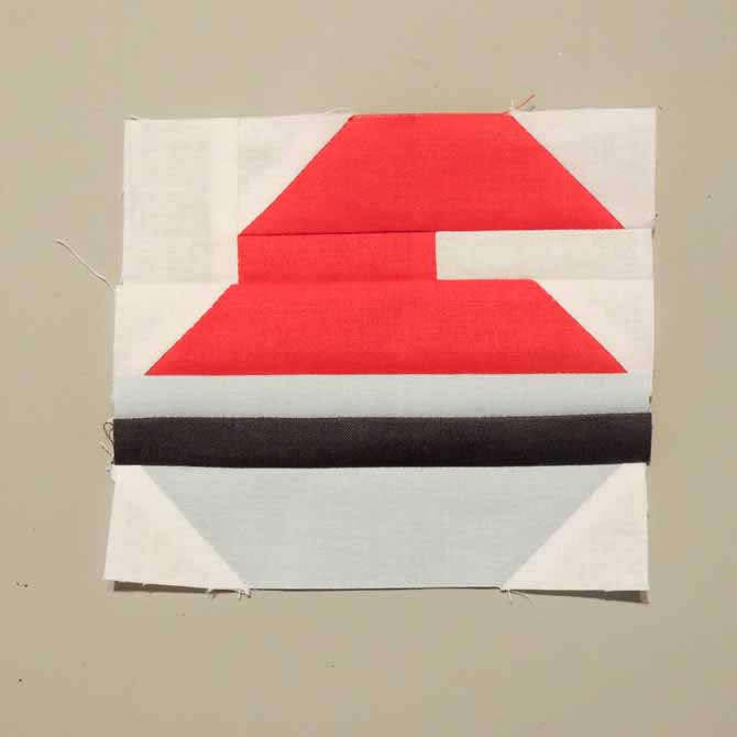 Curling rock quilt block