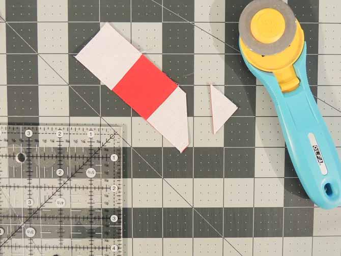 removing excess seam allowance stitch and flip method