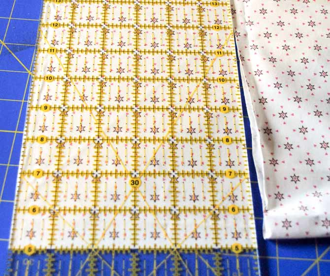 "Step #2 - Cut fabric strip 6"" x the width of the quilt"
